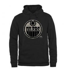 NHL Men's Edmonton Oilers Black Rink Warrior Pullover Hoodie