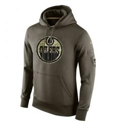 NHL Men's Edmonton Oilers Nike Olive Salute To Service KO Performance Hoodie