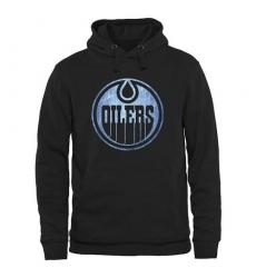NHL Men's Edmonton Oilers Rinkside Pond Hockey Pullover Hoodie - Black