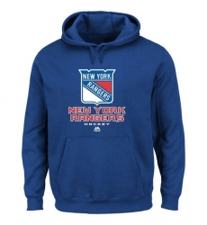 NHL Men's Majsetic New York Rangers Critical Victory VIII Pullover Hoodie - Royal Blue