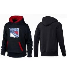 NHL Men's New York Rangers Big & Tall Logo Pullover Hoodie - Black/Red