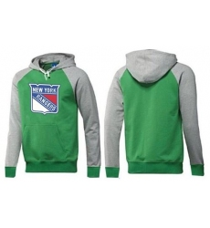 NHL Men's New York Rangers Big & Tall Logo Pullover Hoodie - Green/Grey