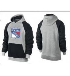 NHL Men's New York Rangers Big & Tall Logo Pullover Hoodie - Grey/Black