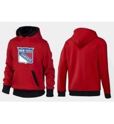 NHL Men's New York Rangers Big & Tall Logo Pullover Hoodie - Red/Black