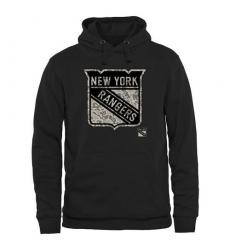 NHL Men's New York Rangers Black Rink Warrior Pullover Hoodie