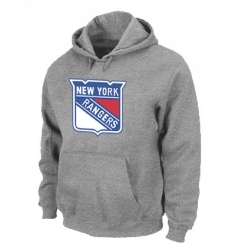 NHL Men's New York Rangers Pullover Hoodie - Grey