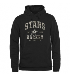 NHL Men's Dallas Stars Black Camo Stack Pullover Hoodie