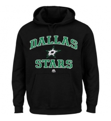 NHL Men's Dallas Stars Majestic Heart & Soul Hoodie - Black
