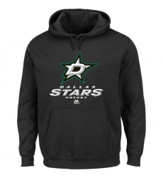 NHL Men's Majestic Dallas Stars Critical Victory VIII Pullover Hoodie - Black