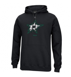NHL Men's Reebok Dallas Stars Primary Logo Pullover Hoodie - Black