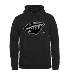 NHL Men's Minnesota Wild Black Rink Warrior Pullover Hoodie