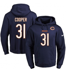 NFL Men's Nike Chicago Bears #31 Marcus Cooper Navy Blue Name & Number Pullover Hoodie