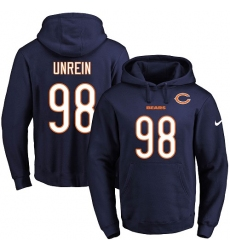 NFL Men's Nike Chicago Bears #98 Mitch Unrein Navy Blue Name & Number Pullover Hoodie