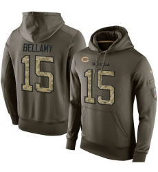 NFL Nike Chicago Bears #15 Josh Bellamy Green Salute To Service Men's Pullover Hoodie
