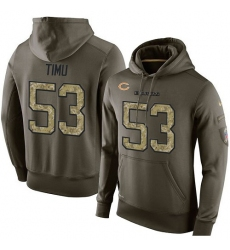 NFL Nike Chicago Bears #53 John Timu Green Salute To Service Men's Pullover Hoodie