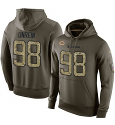 NFL Nike Chicago Bears #98 Mitch Unrein Green Salute To Service Men's Pullover Hoodie