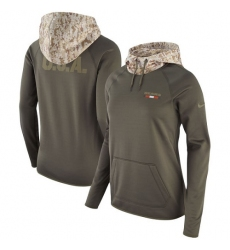 NFL Women's Chicago Bears Nike Olive Salute to Service Performance Pullover Hoodie