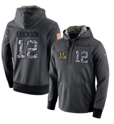 NFL Men's Nike Cincinnati Bengals #12 Alex Erickson Stitched Black Anthracite Salute to Service Player Performance Hoodie