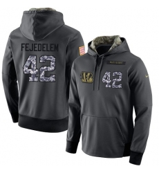 NFL Men's Nike Cincinnati Bengals #42 Clayton Fejedelem Stitched Black Anthracite Salute to Service Player Performance Hoodie