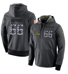 NFL Men's Nike Cincinnati Bengals #66 Trey Hopkins Stitched Black Anthracite Salute to Service Player Performance Hoodie