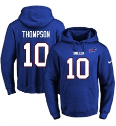 NFL Men's Nike Buffalo Bills #10 Deonte Thompson Royal Blue Name & Number Pullover Hoodie