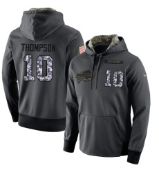 NFL Men's Nike Buffalo Bills #10 Deonte Thompson Stitched Black Anthracite Salute to Service Player Performance Hoodie
