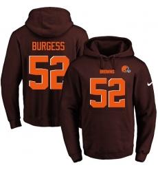 NFL Men's Nike Cleveland Browns #52 James Burgess Brown Name & Number Pullover Hoodie