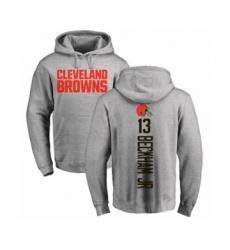 NFL Nike Cleveland Browns #13 Odell Beckham Jr. Ash Backer Pullover Hoodie