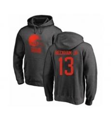 NFL Nike Cleveland Browns #13 Odell Beckham Jr. Ash One Color Pullover Hoodie
