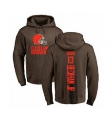 NFL Nike Cleveland Browns #13 Odell Beckham Jr. Brown Backer Pullover Hoodie