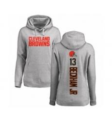NFL Women's Nike Cleveland Browns #13 Odell Beckham Jr. Ash Backer Pullover Hoodie