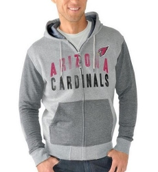 NFL Arizona Cardinals G-III Sports by Carl Banks Safety Tri-Blend Full-Zip Hoodie Heathered Gray
