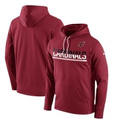 NFL Men Arizona Cardinals Nike Cardinal Sideline Circuit Pullover Performance Hoodie