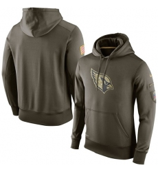 NFL Men Arizona Cardinals Nike Olive Salute To Service KO Performance Hoodie