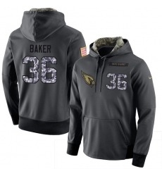 NFL Men Nike Arizona Cardinals #36 Budda Baker Stitched Black Anthracite Salute to Service Player Performance Hoodie