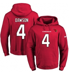 NFL Men Nike Arizona Cardinals #4 Phil Dawson Red Name & Number Pullover Hoodie