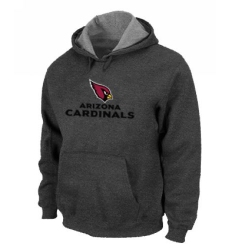 NFL Men Nike Arizona Cardinals Authentic Logo Pullover Hoodie - Grey
