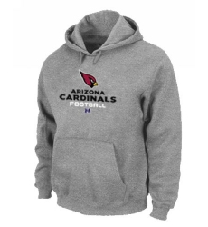 NFL Men Nike Arizona Cardinals Critical Victory Pullover Hoodie - Grey