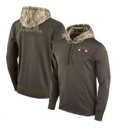 NFL Men's Arizona Cardinals Nike Olive Salute to Service Sideline Therma Pullover Hoodie