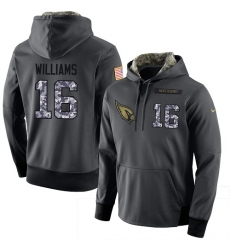 NFL Men's Nike Arizona Cardinals #16 Chad Williams Stitched Black Anthracite Salute to Service Player Performance Hoodie