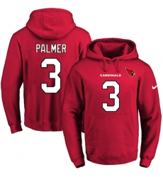 NFL Men's Nike Arizona Cardinals #3 Carson Palmer Red Name & Number Pullover Hoodie