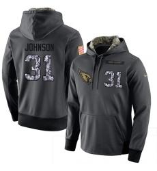 NFL Men's Nike Arizona Cardinals #31 David Johnson Stitched Black Anthracite Salute to Service Player Performance Hoodie