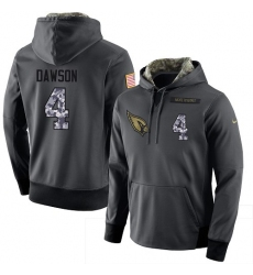 NFL Men's Nike Arizona Cardinals #4 Phil Dawson Stitched Black Anthracite Salute to Service Player Performance Hoodie