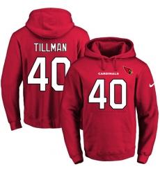 NFL Men's Nike Arizona Cardinals #40 Pat Tillman Red Name & Number Pullover Hoodie
