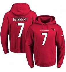 NFL Men's Nike Arizona Cardinals #7 Blaine Gabbert Red Name & Number Pullover Hoodie