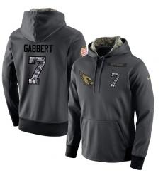 NFL Men's Nike Arizona Cardinals #7 Blaine Gabbert Stitched Black Anthracite Salute to Service Player Performance Hoodie