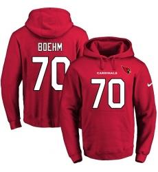 NFL Men's Nike Arizona Cardinals #70 Evan Boehm Red Name & Number Pullover Hoodie