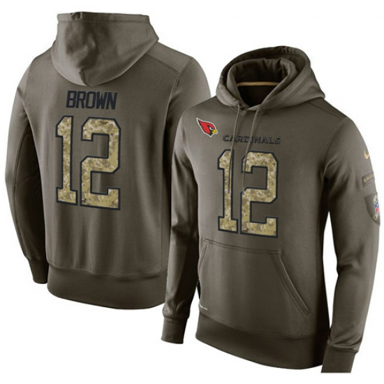 NFL Nike Arizona Cardinals #12 John Brown Green Salute To Service Men Pullover Hoodie