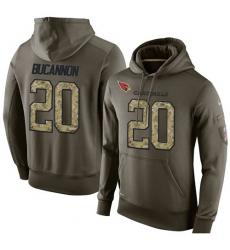 NFL Nike Arizona Cardinals #20 Deone Bucannon Green Salute To Service Men's Pullover Hoodie