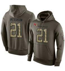 NFL Nike Arizona Cardinals #21 Patrick Peterson Green Salute To Service Men Pullover Hoodie